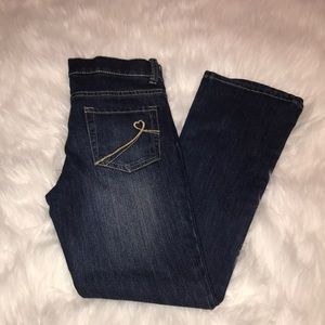 GIRLS bootcut stretch jeans size 10